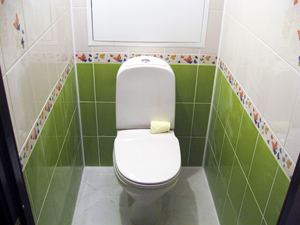 Расположение пеленки в туалете
