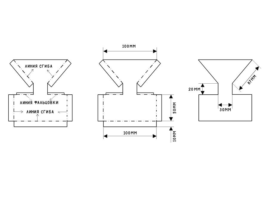 Схема бункерной кормушки для цыплят