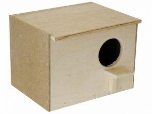 Сооружение домика для гнездования попугаев