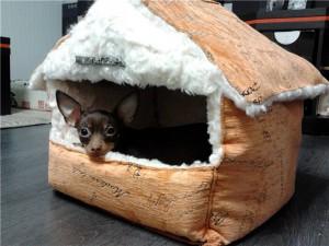 Домик из поролона для маленькой собачки