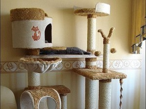 Домики-когтеточки для кошек