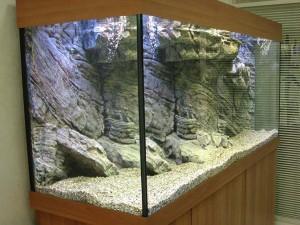 Оформление задней стенки аквариума