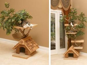 Интересный вариант домика в виде дерева