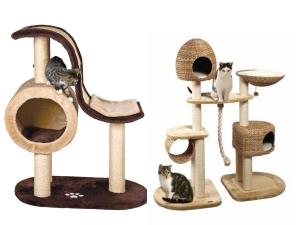 Домики для кошек с игровыми зонами